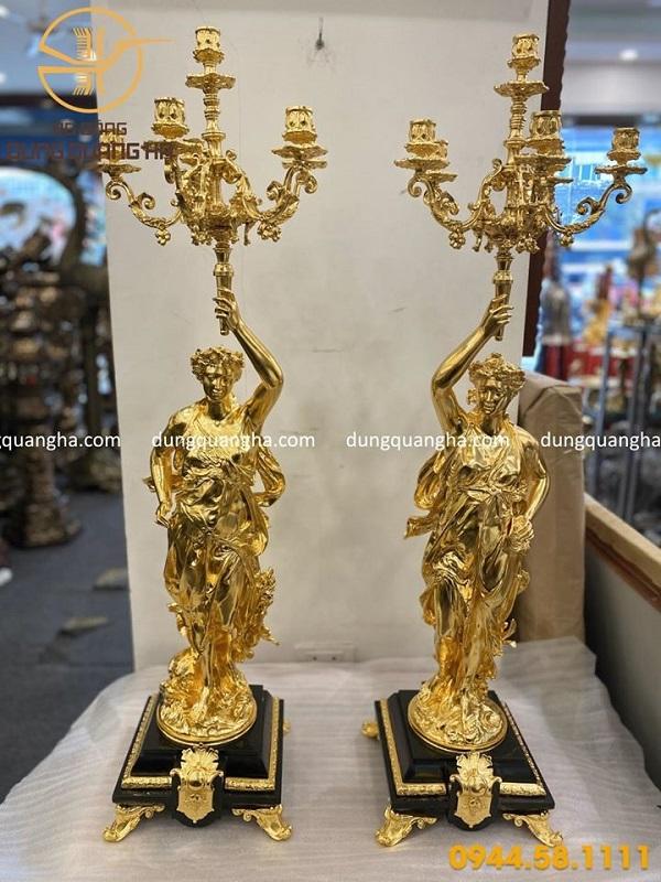 Tượng nghệ thuật dát vàng 9999 theo yêu cầu của khách