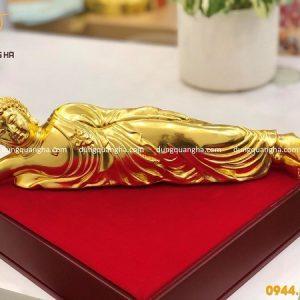 Tượng Phật A Di Đà nằm mạ vàng 24k cỡ nhỏ