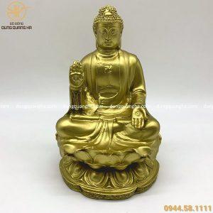 Tượng Phật A Di Đà tôn nghiêm bằng đồng vàng mộc