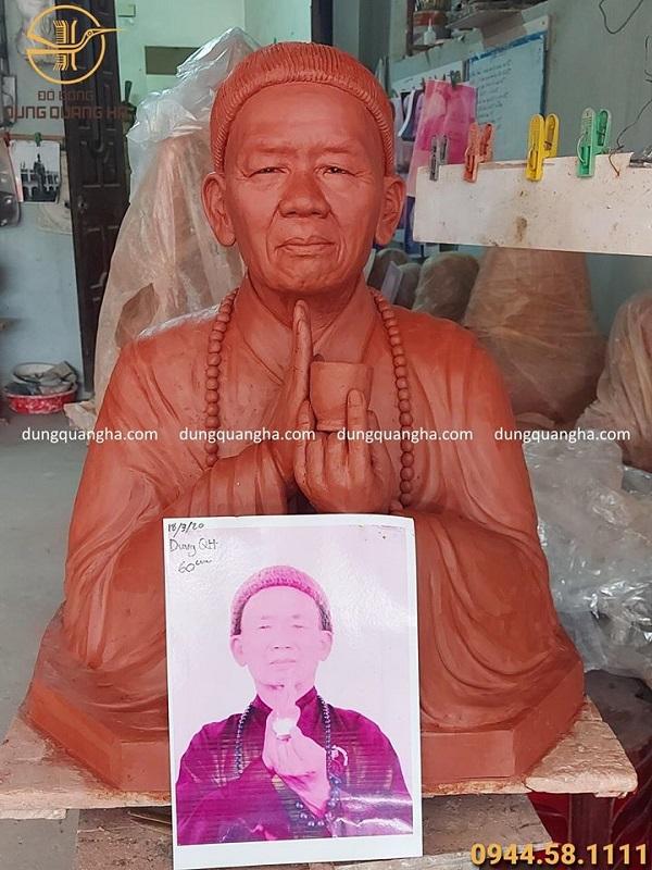Đúc tượng chân dung bán thân bằng đồng cao 60cm