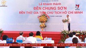 Lắp đặt biển Đền Chung Sơn