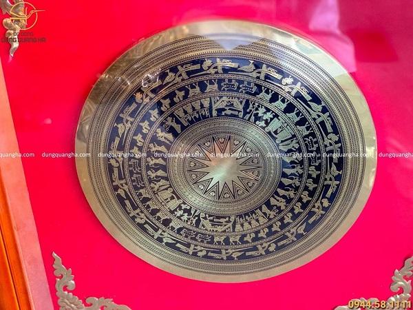 Tranh mặt trống đồng bằng đồng vàng công nghệ CNC mẫu 2