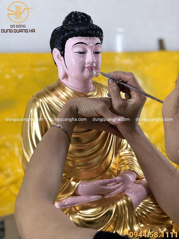 Dát vàng tượng Phật A Di Đà