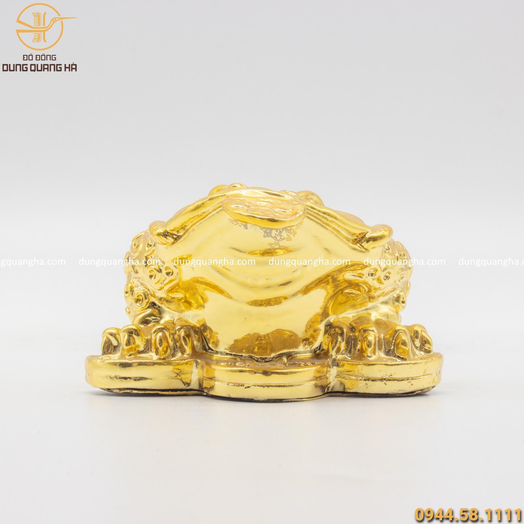 Thiềm Thừ phong thủy bằng đồng mạ vàng 24k đẹp sắc nét
