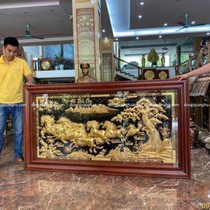 Tranh Mã Đáo Thành Công kích thước 2m3 dát vàng tinh xảo