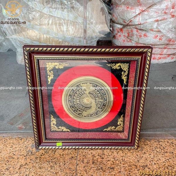Tranh mặt trống đồng treo tường hình bản đồ Việt Nam mẫu 3