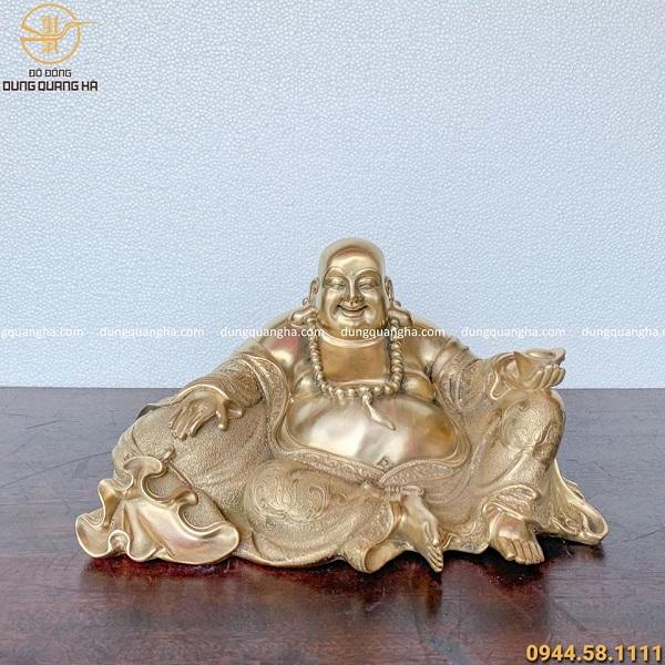 Tượng Di Lặc ngồi bằng đồng cát tút mẫu 2 đẹp tinh xảo