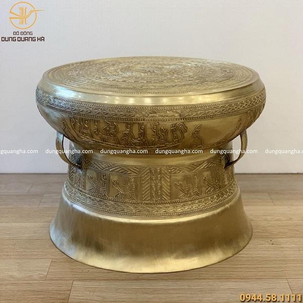 Quả trống đồng bằng đồng cát tút đường kính 50cm, cao 38cm