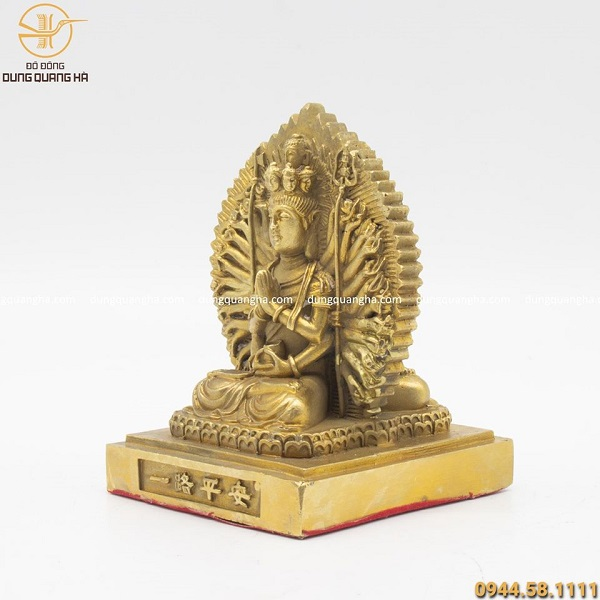Tượng Phật Thiên Thủ Thiên Nhãn 2 mặt cỡ nhỏ cao 10cm