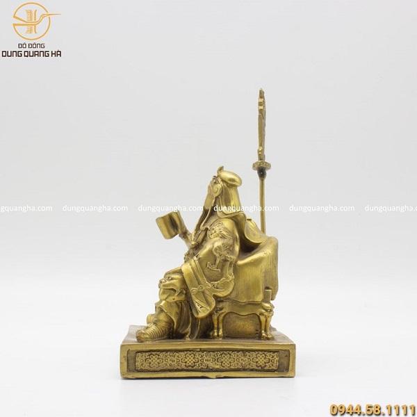 Tượng Quan Vân Trường ngồi đọc sách bằng đồng vàng cao 15cm