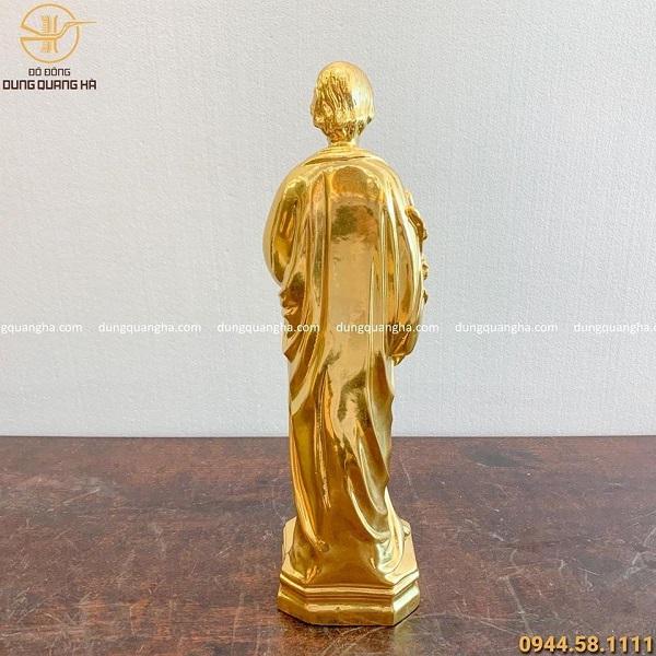 Tượng Thiên Chúa giáo bằng đồng dát vàng cao 40cm tinh xảo