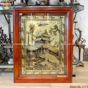 Tranh chùa Keo - Thái Bình bằng đồng màu sắc cổ phong