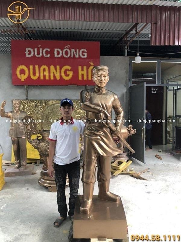 Tượng Nguyễn Trung Trực bằng đồng cao 2m đẹp chân thực