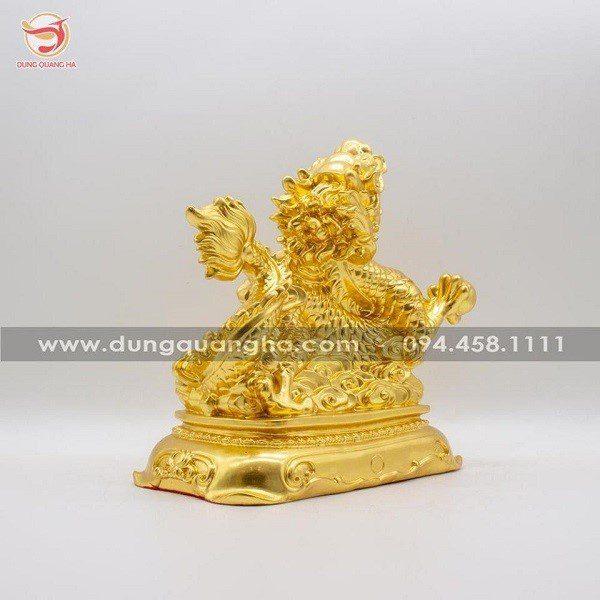 Tượng rồng bằng đồng mạ vàng cao cấp