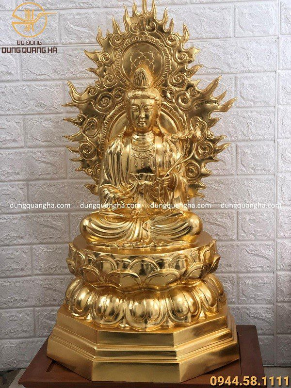 Bức tượng Phật Quan Thế Âm Bồ Tát đẹp, chất lượng của đồ đồng Dung Quang Hà