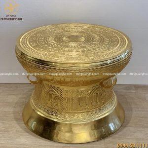 Quả trống đồng Ngọc Lũ đường kính 60cm dát vàng 9999