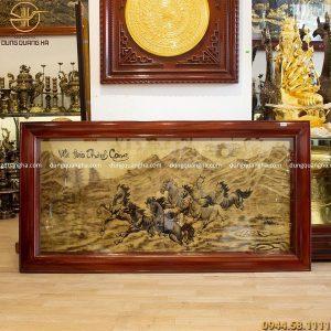 Tranh Mã Đáo Thành Công bằng đồng 1m7 màu sắc cổ phong