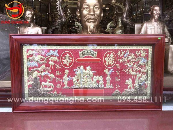 Một mẫu tranh mừng thọ của đồ đồng Dung Quang Hà