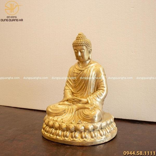 Tượng Phật Thích Ca bằng đồng cao 29cm đẹp tôn nghiêm
