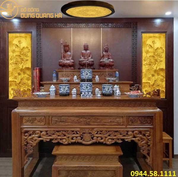 Bàn thờ Tam Thế Phật cần để nơi cao ráo, sạch sẽ