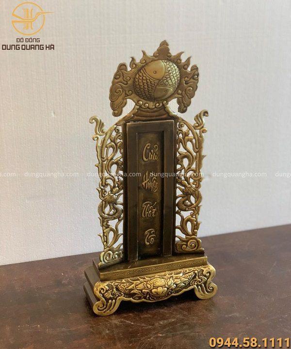 Bài vị thờ cửu huyền thất tổ cao 44 cm, đồng vàng hun