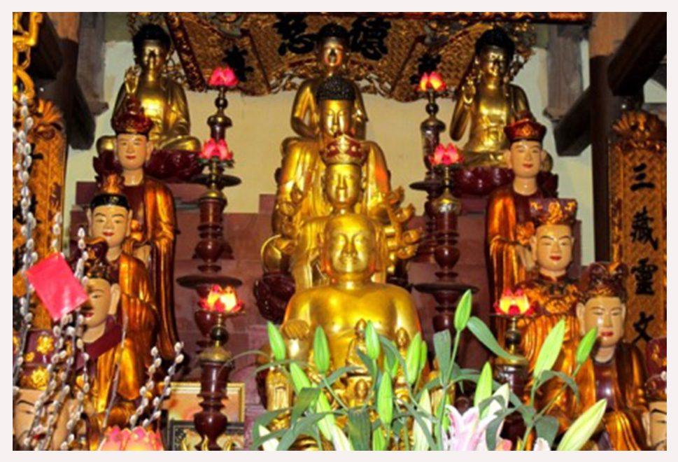Cách sắp xếp tượng Phật trong chùa