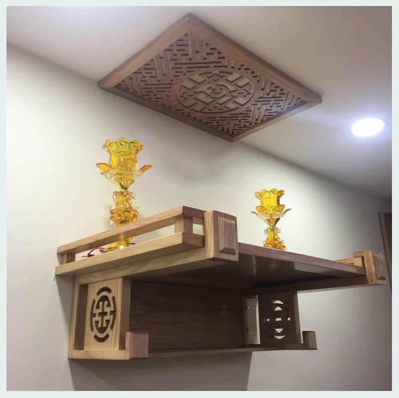 Đặt bàn thờ ngũ tự đúng hướng để đem về tài lộc
