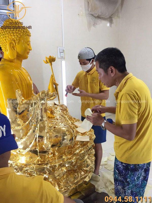 Dịch vụ thếp vàng tượng Phật tại xưởng uy tín, chất lượng