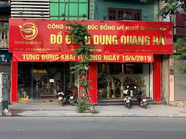 Đồ đồng Dung Quang Hà là cơ sở sản xuất, phân phối đồ đồng Ý Yên chất lượng cao
