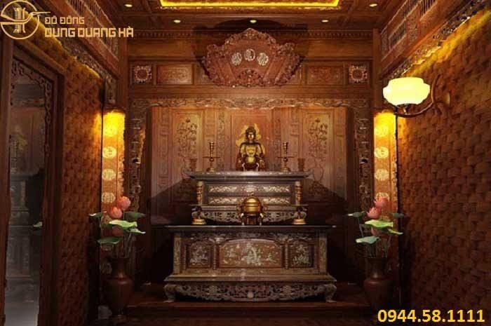 Hướng bàn thờ phật cần quay theo hướng cửa chính ngôi nhà