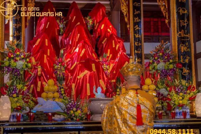 Quá trình khai quang điểm nhãn tượng phật tại chùa