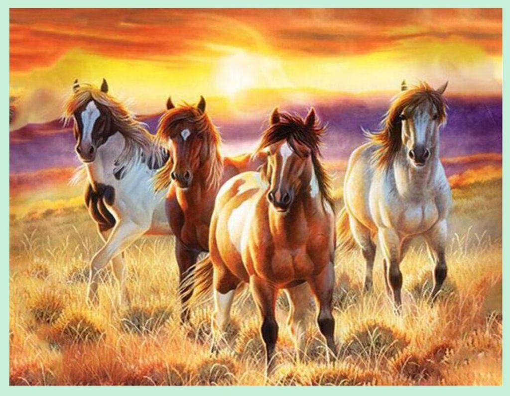 Không nên treo tranh bát mã có 4 con ngựa