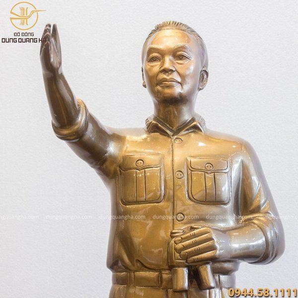 Tượng Đại tướng Võ Nguyên Giáp cao 70cm (không đế 55cm)
