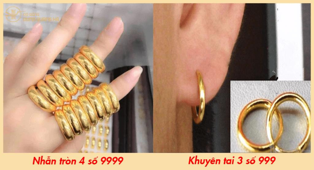 Vàng 4 số 9999 và vàng 999