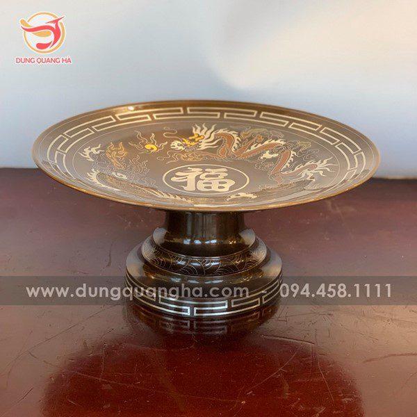 Mẫu mâm đồng thích hợp đặt trên bàn thờ vào dịp lễ, tết
