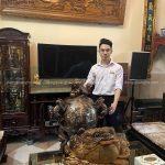 Giao quả đỉnh cầu thất lân 1m15 khảm ngũ sắc cho khách tại Hà Đông – Hà Nội