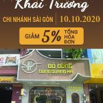 【Giảm 5% Tổng Hóa Đơn】- Mừng Khai Trương Chi Nhánh Sài Gòn