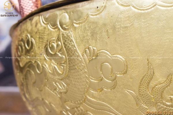 Chậu tắm Phật bằng đồng thiết kế độc đáo tôn nghiêm