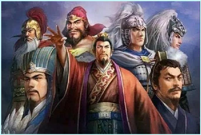 Lưu Bị, Gia Cát Lượng và Ngũ hổ tướng