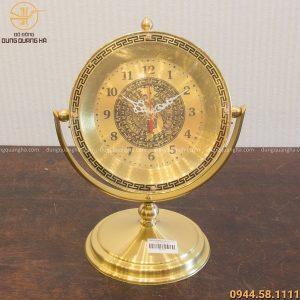 Quà tặng đồng hồ bằng đồng đế trơn cao 30cm
