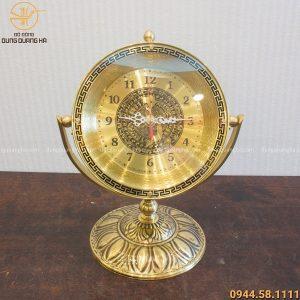 Quà tặng đồng hồ để bàn bằng đồng cao 30cm