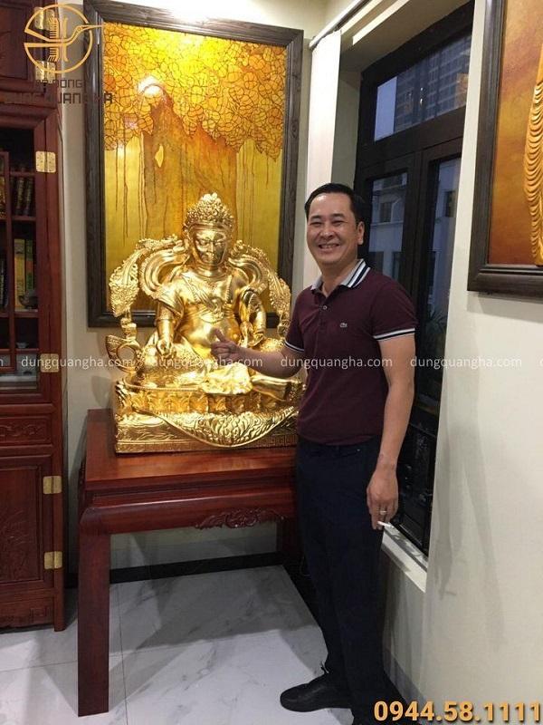 Quy trình đúc và thếp vàng pho tượng Thần Tài hàng đặt theo yêu cầu