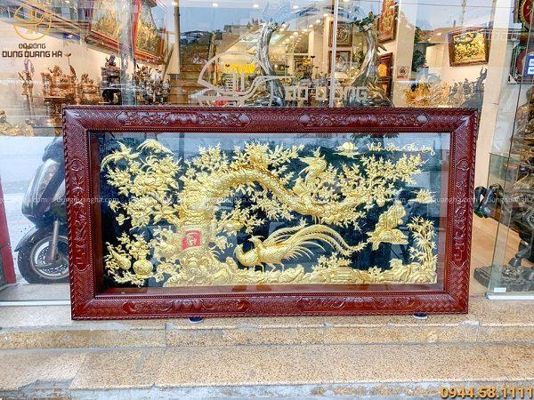 Tranh đồng Vinh Hoa Phú Quý mạ vàng 24k kích thước 2m3