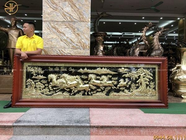 Tranh Mã Đáo Thành Công kích thước độc đáo 2m97 x 1m