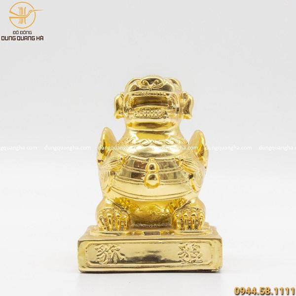 Tỳ Hưu mạ vàng để bàn – linh vật phong thủy cao cấp