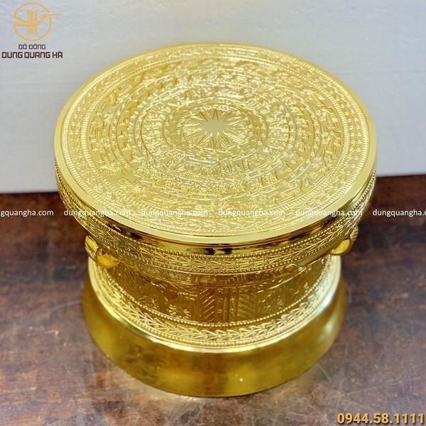 Mẫu trống đồng đẹp tinh xảo mạ vàng 24k