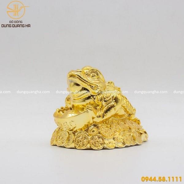 Cóc ngậm tiền mạ vàng 24k cao cấp