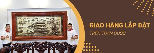 Đồ đồng Dung Quang Hà giao hàng và hỗ trợ lắp đặt trên toàn quốc