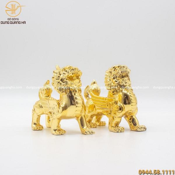 Tỳ Hưu mạ vàng để bàn