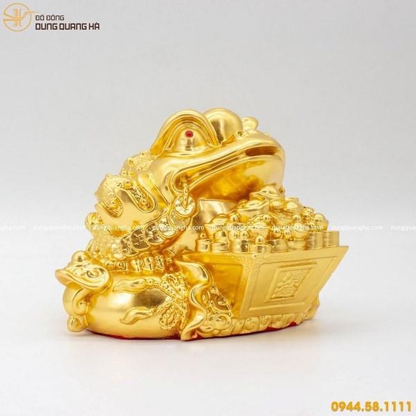 Thiềm thừ bằng đồng mạ vàng 24k